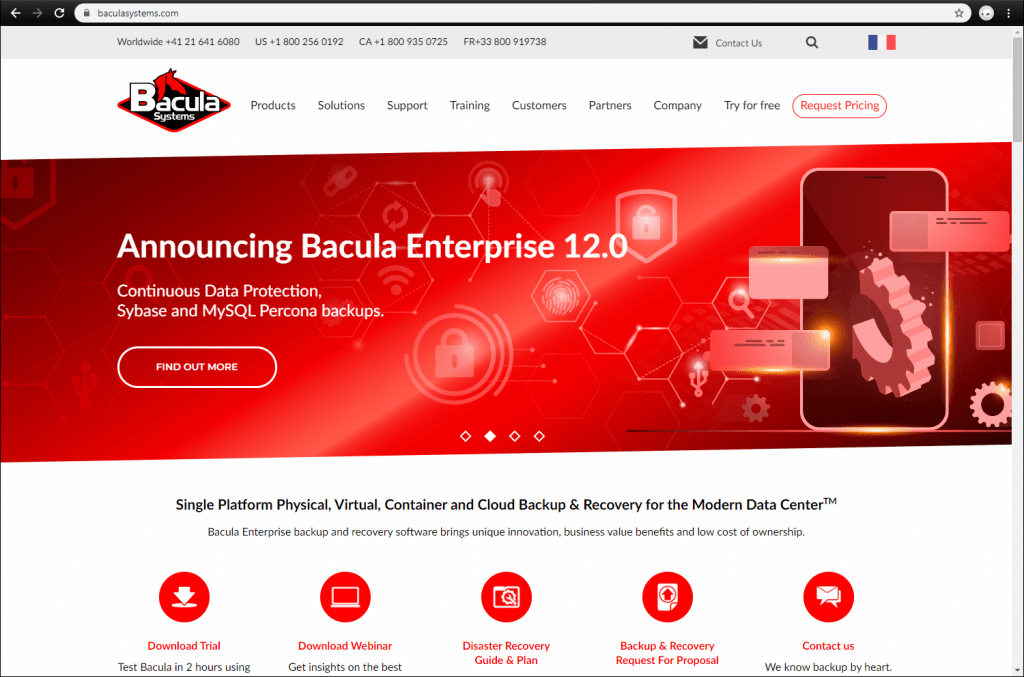 Bacula Enterprise front page