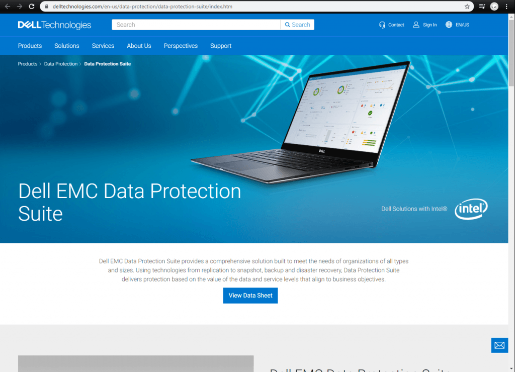 Dell EMC front page