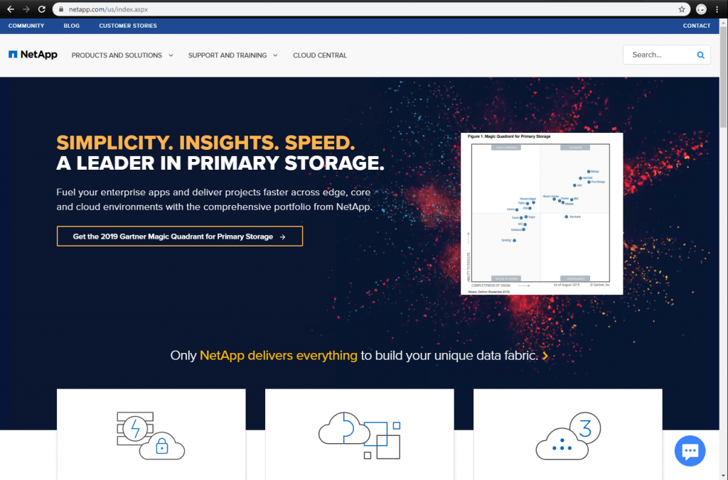 NetApp front page
